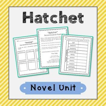 themes of book hatchet hatchet novel unit with poetry chapter summary