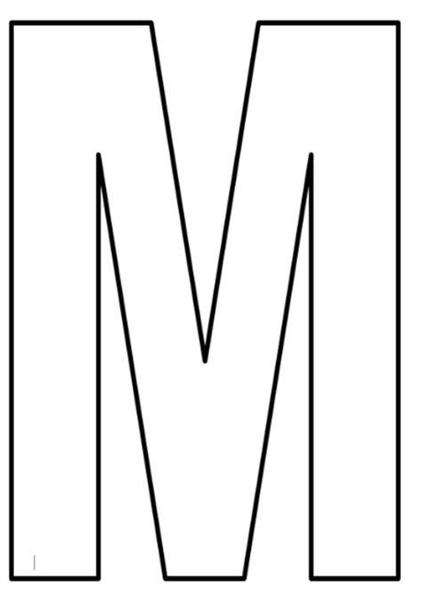 moldes de letra m moldes de letras grandes para imprimir maio 2018
