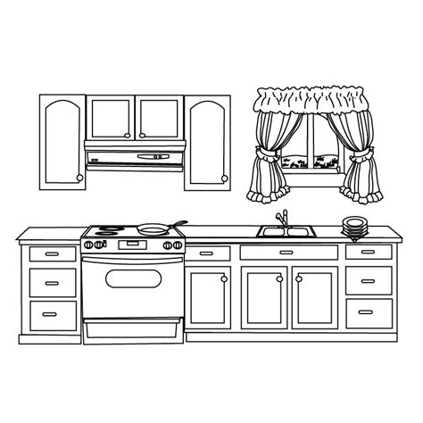coloring pages kitchen free kitchen coloring pages