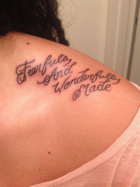 fearfully and wonderfully made tattoo script fearfully and wonderfully made