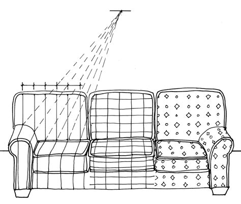 one point perspective sofa 6 sofa pattern