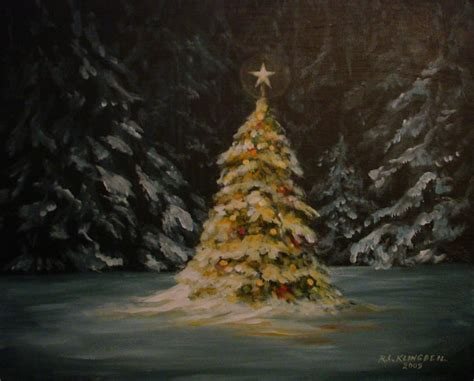 oh christmas tree painting by richard klingbeil