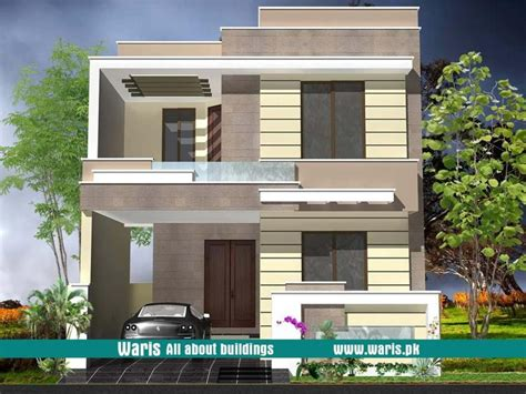 waris house  marla  view elevation   dc colony