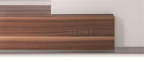 j m tv015 tv stand in walnut white high gloss 17872 tv015 tv stand in white lacquer walnut by j m furniture
