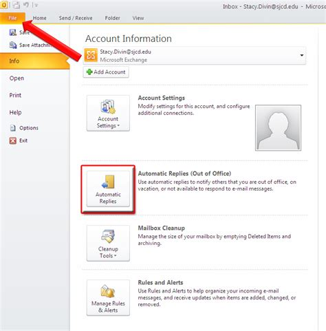 How To Set Out Of Office In Outlook 2007 by How To Set Up Out Of Office Reply In Microsoft Outlook 2010