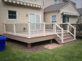 deck railings deck railing and spindles vinyl and wood deck rails