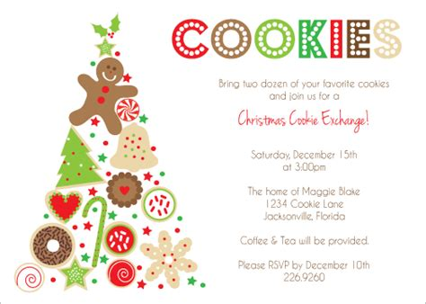 cookie exchange party invitations template best template