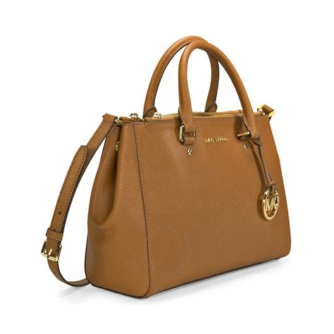Michael Kors Handbag 4 michael kors sutton leather medium satchel handbag brown