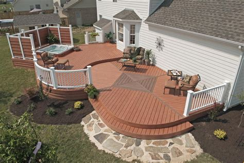 Patio Deck Designs Tub Decks With Tubs The Outstanding Home Deck Design