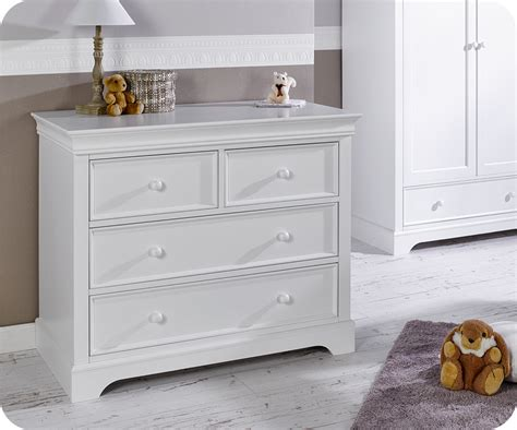 commode bebe blanche commode b 233 b 233 mel blanche 4 tiroirs plan 224 langer amovible