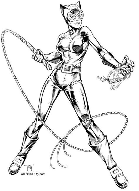 coloring page catwoman catwoman traditional inks on behance comic art