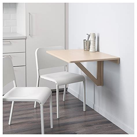 ikea norbo solid birch wall mounted drop leaf bar table