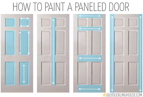 how to paint a 6 panel exterior door many shades of black the duckling house