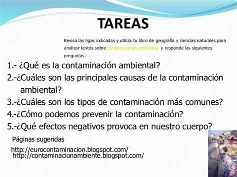 preguntas sobre la contaminacion contaminaci 211 n ambiental