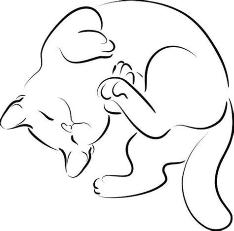 cat tattoo line drawing light dark orange w white tabby silhouette with kitty