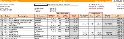 Vorlage Rechnung Landwirtschaft Excel Einnahmen Ausgaben Rechnung Kostenlos Downloaden