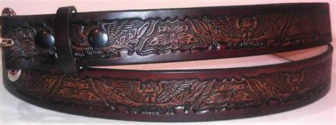 Handmade Belts Usa - eagle embossed leather belt leather belts usa