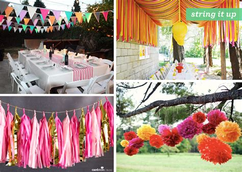 diy backyard party ideas backyard gone glam 1 outdoor party decoration ideas