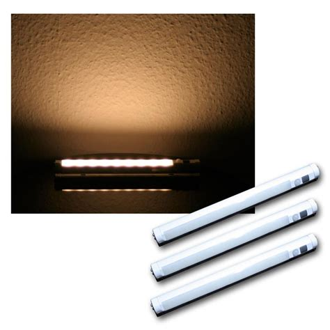 motion sensor led strip light set of 3 led light strip warm white pir motion sensor