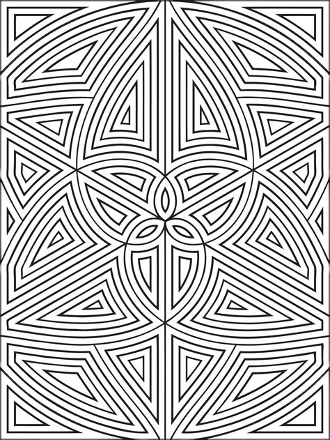design coloring pages free printable geometric coloring pages for