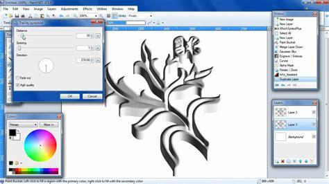 paint net tutorial 3d metal shape