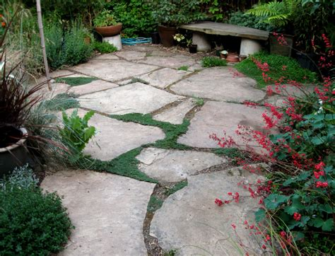 backyard stone patio drystonegarden 187 flatwork