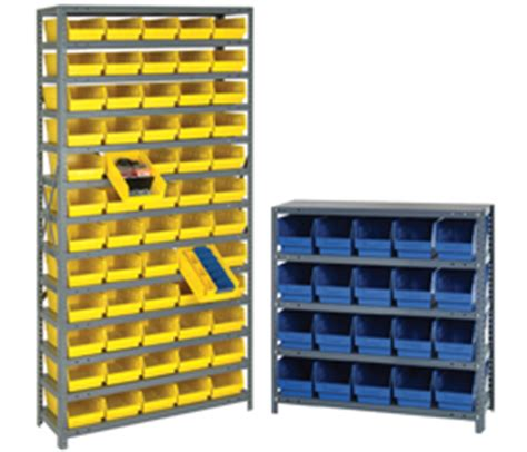bins systems 4 quot shelf bins qsb series steel