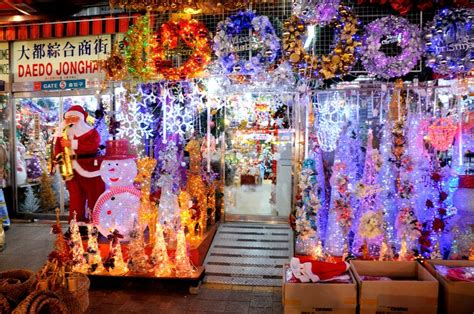 christmas decorations for sale seoul south korea photo
