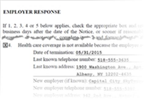 Support Letter For Health Insurance Health Insurance Withholding Employee Termination