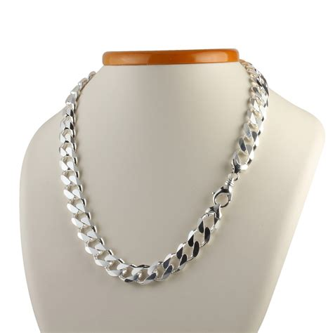 and chain heavyweight solid sterling silver s curb chain