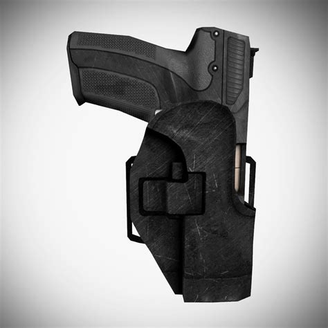 Kaos 3d Gun Holster M 3ds max five seven semi automatic pistol holster