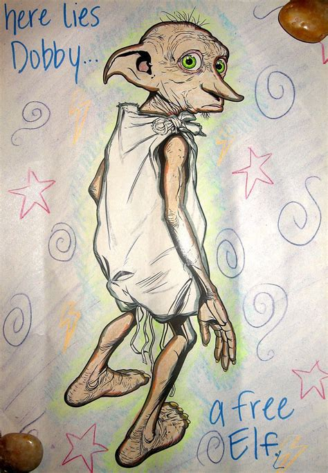 harry potter coloring book dobby dobby coloring book image by justdoodles on deviantart