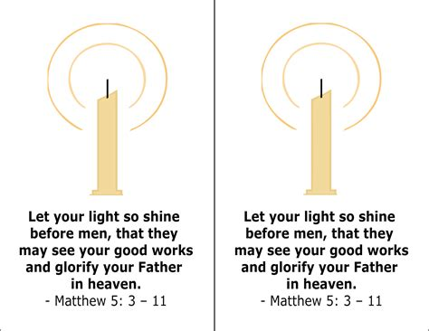 let your light so shine many mercies let your light so shine candle lesson for