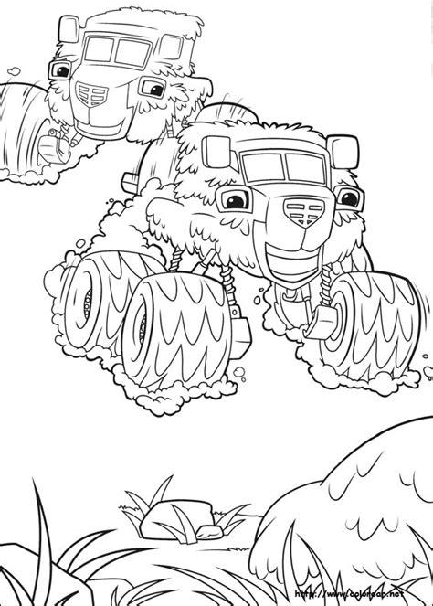 blaze coloring pages pdf dibujos para colorear de blaze y los monster machines
