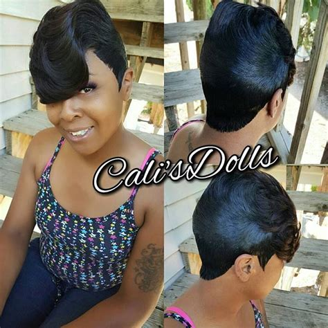 pics of weave styles tied back shortcuts quickweave scstylist 27 piece hairstyle