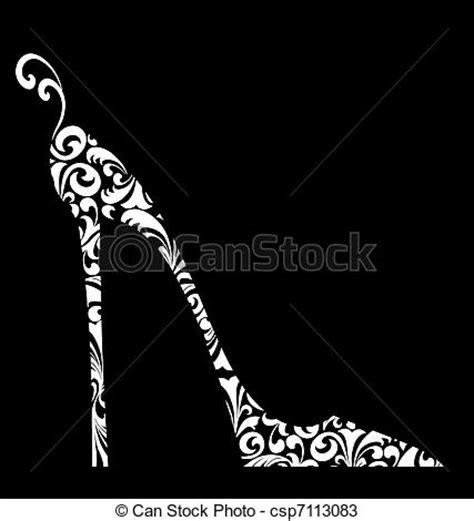 imagenes zapatos blanco y negro dibujos de talonado damasco alto negro zapato