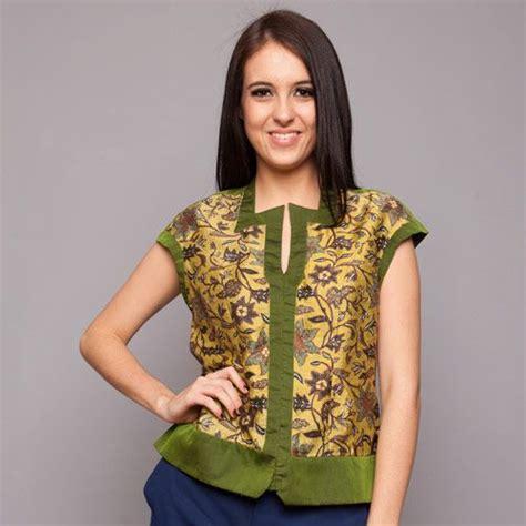 Kemeja Motif Wanita Green green silk atbm batik blouse cita nirvana