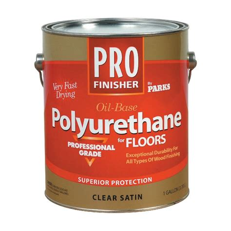 1 gal clear satin water based polyurethane for floors rust oleum parks 1 gal clear satin based interior
