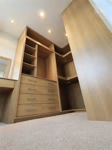 bespoke fitted bedroom furniture oak walk in wardrobe