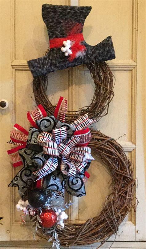 40 christmas wreaths decoration ideas snowman wreath