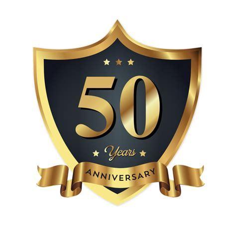 50th Anniversary Badge Logo Icon, Anniversary, 50