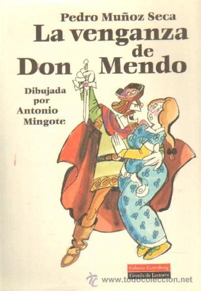 libro la venganza de don la venganza de don mendo dibujada por antonio comprar en todocoleccion 27066187