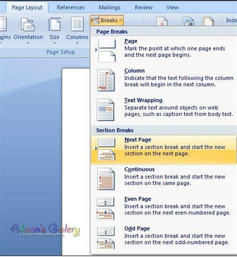 cara membuat posisi halaman berbeda pada word 2010 cara cara membuat nomor halaman dg posisi berbeda pada