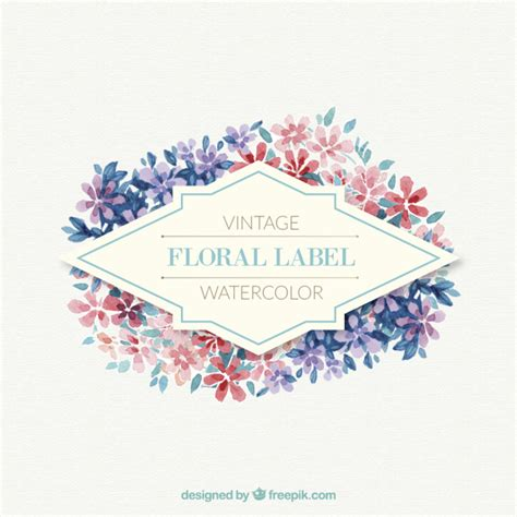 Etiketten Größen by Floral Label Made Up Of Little Flowers Vector Free Download