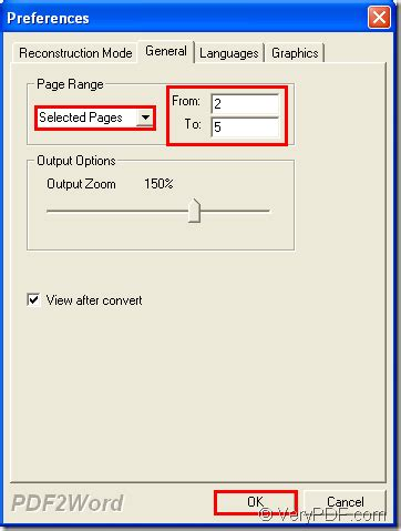 convert pdf to word selected pages batch convert specific pages of pdf to docx verypdf