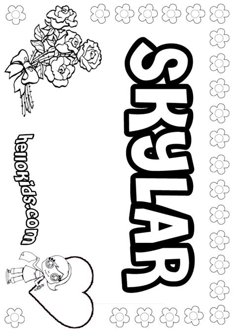 printable coloring pages names skylar coloring pages hellokids