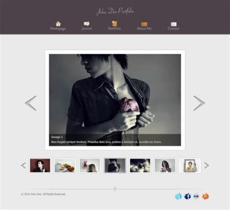 templates blogger portfolio 40 free professional psd website templates for download