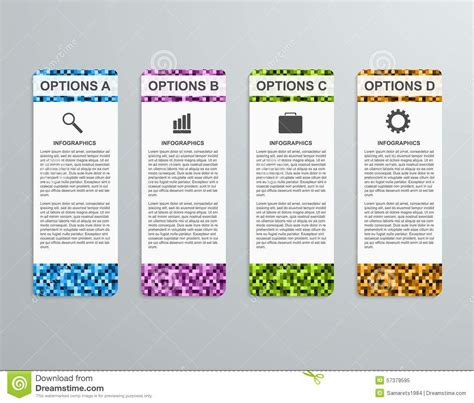 abstract 3d business options paper infographics template