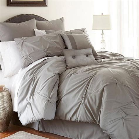 joss main bedding 8 piece lydia comforter set in gray plush neutrals on
