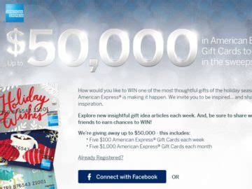 Expired American Express Gift Card - american express gift card sweepstakes